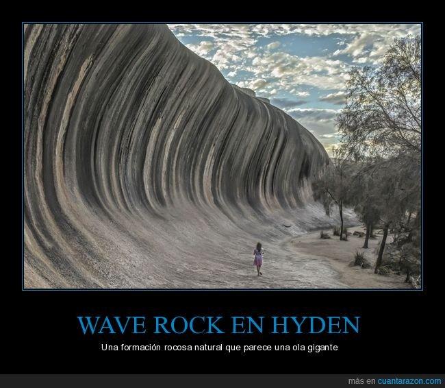 curiosidades,formación rocosa,hyden,ola,wave rock