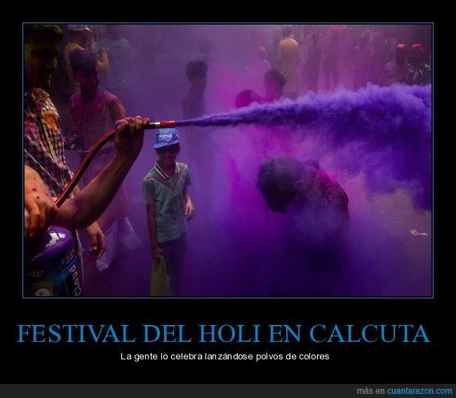 calcuta,celebración,colores,festival,holi,india,primavera