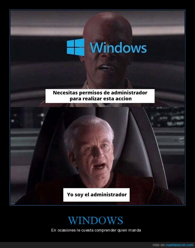administrador,permisos,star wars,windows
