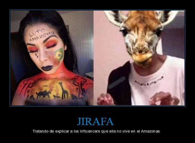 amazonas,explicando,influencers,jirafa
