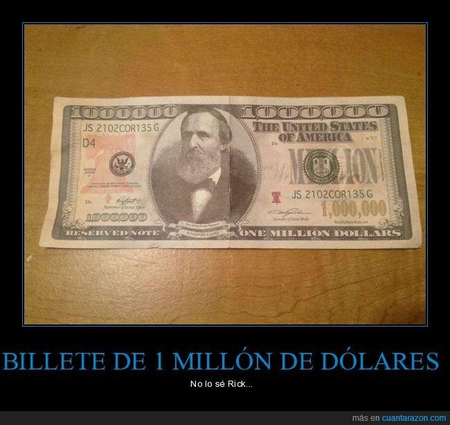 1 millón,billete,dólares