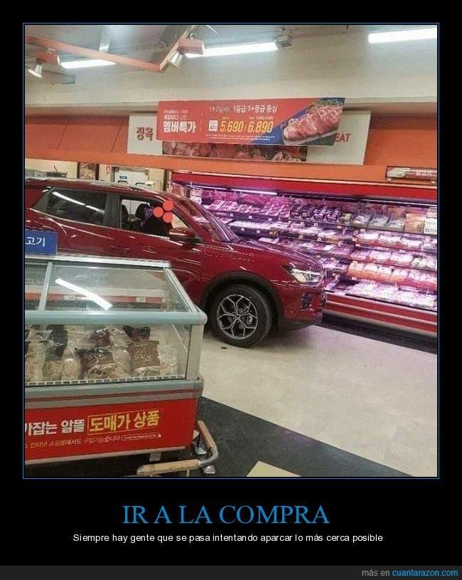 coche,fails,supermercado