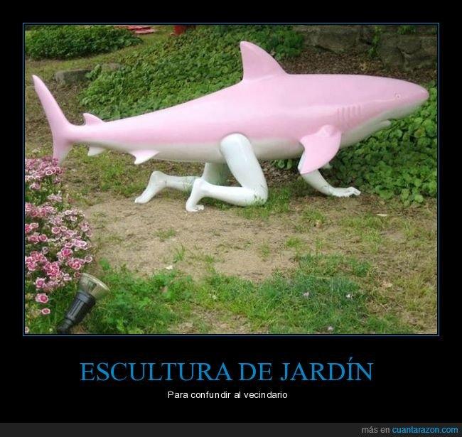 brazos,escultura,piernas,rosa,tiburón