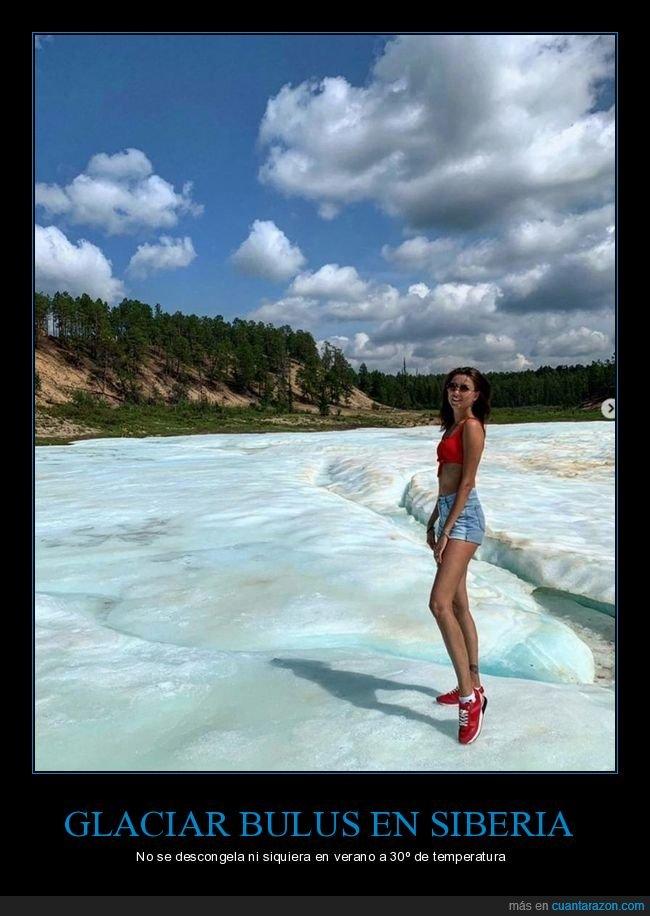bulus,descongelarse,glaciar,siberia,verano