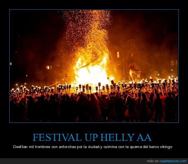 curiosidades,escocia,festival,up helly aa,vikingo