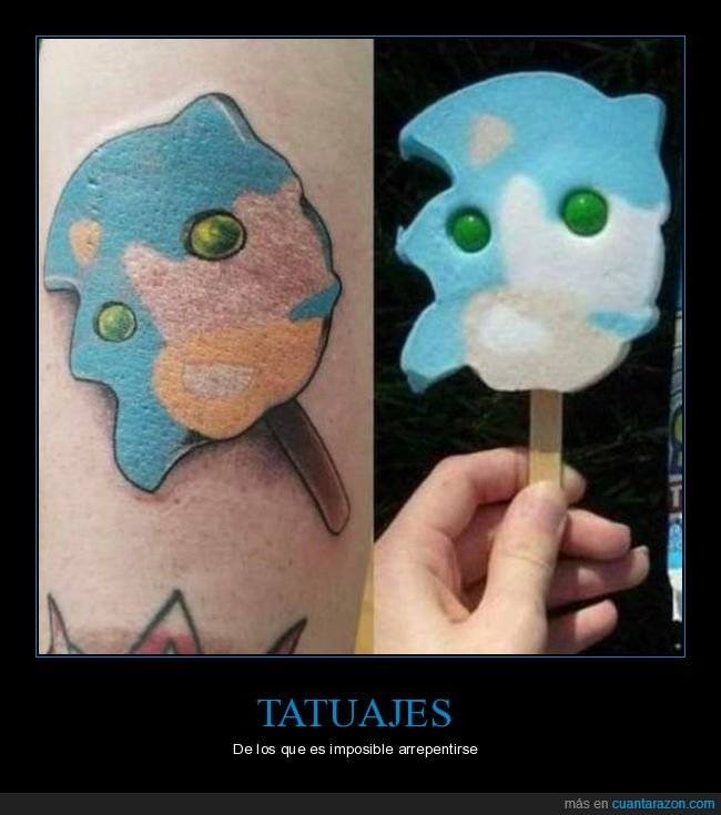 helado,sonic,tatuaje,wtf