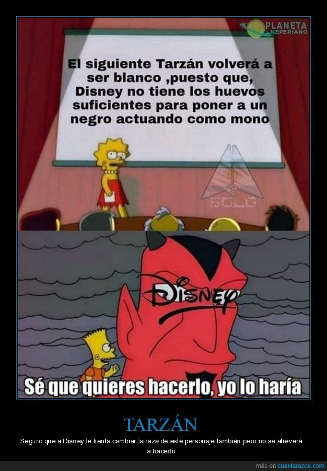 blanco,Disney,mono,negociación,simpsons,tarzán