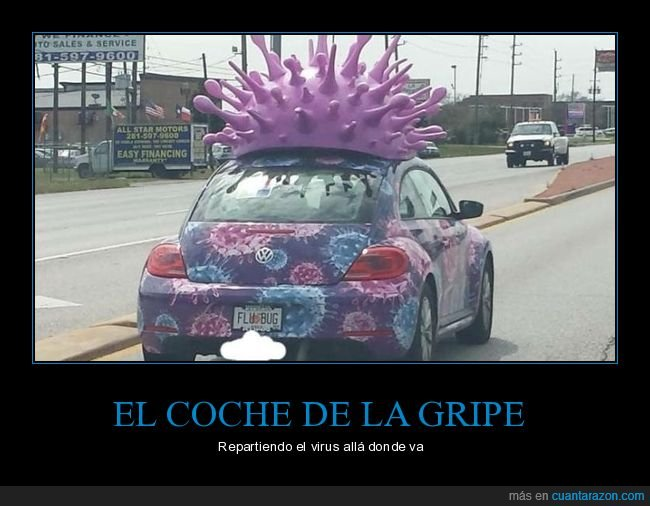 coche,gripe,virus,wtf