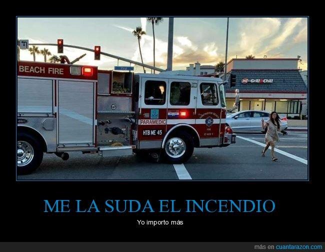 bomberos,camión,cruzando,wtf