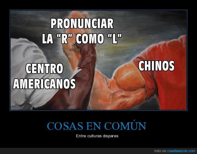 centroamericanos,chinos,l,pronunciar,r
