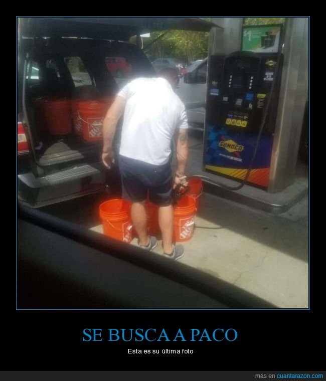 coche,cubos,gasolina,gasolinera,wtf