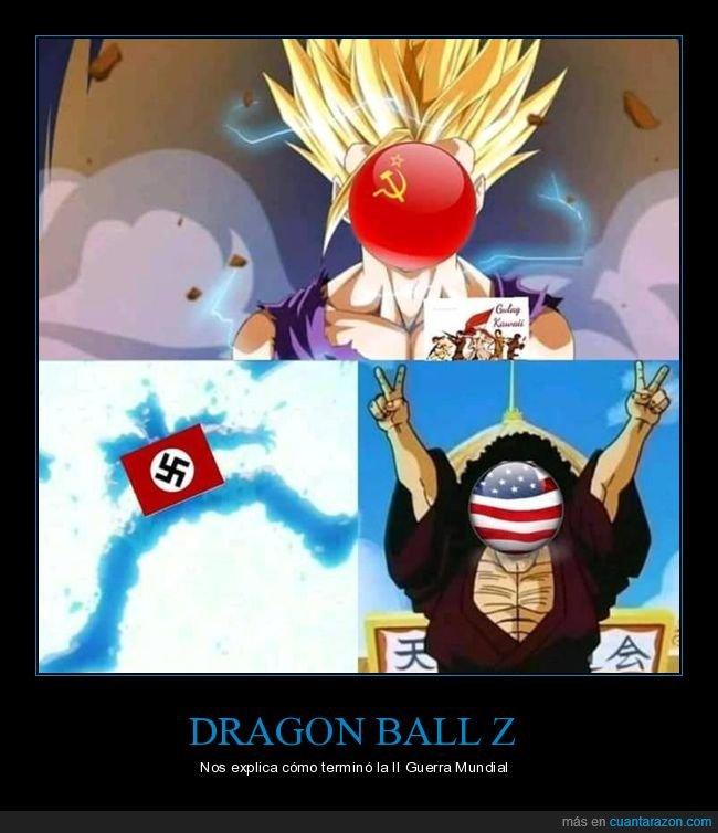 dragon ball,eeuu,ii guerra mundial,nazis,urss