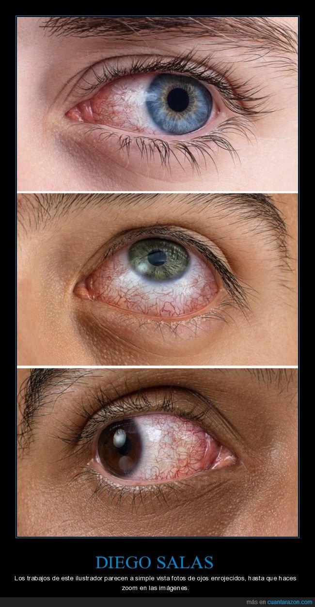 diego salas,ilustrador,ojos,rojos,zoom