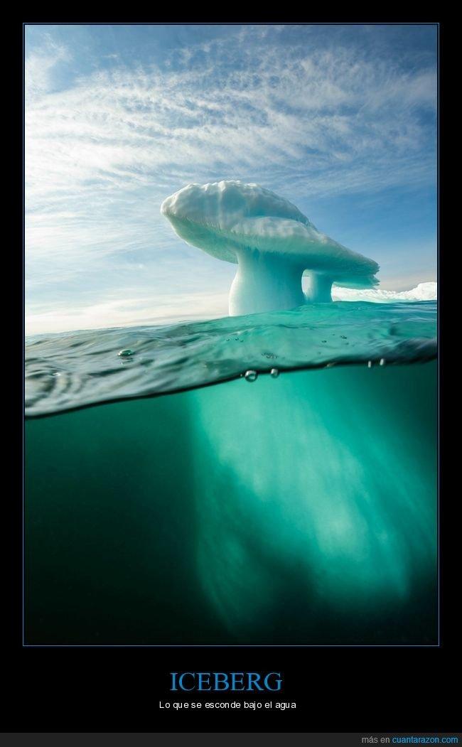 agua,esconderse,iceberg,punta