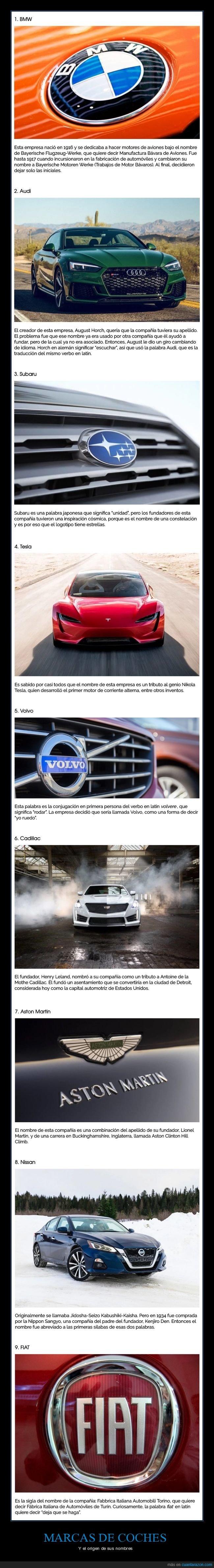 coches,curiosidades,marcas,nombres,origen