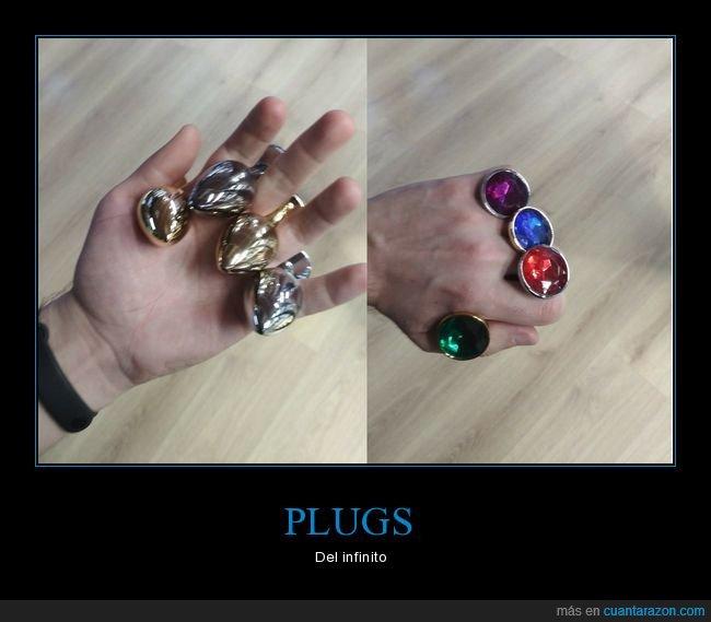 gemas del infinito,plugs,thanos