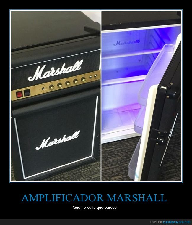amplificador,marshall,nevera