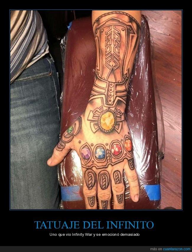 gemas del infinito,guantelete,los vengadores,tatuaje,thanos
