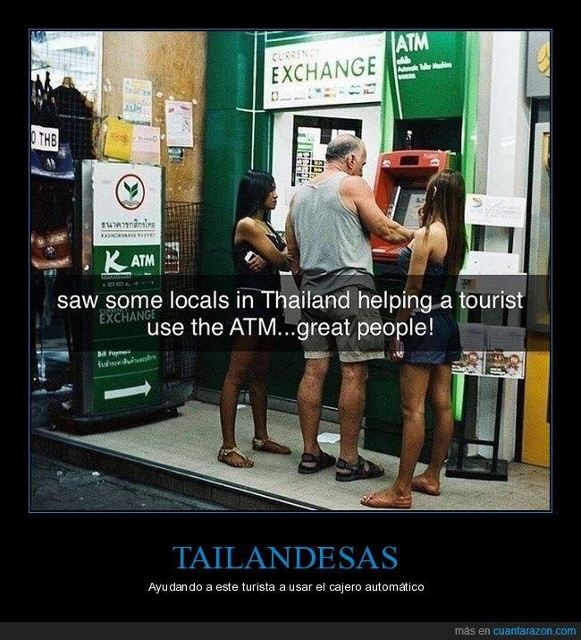 cajero automático,tailandesas,tailandia