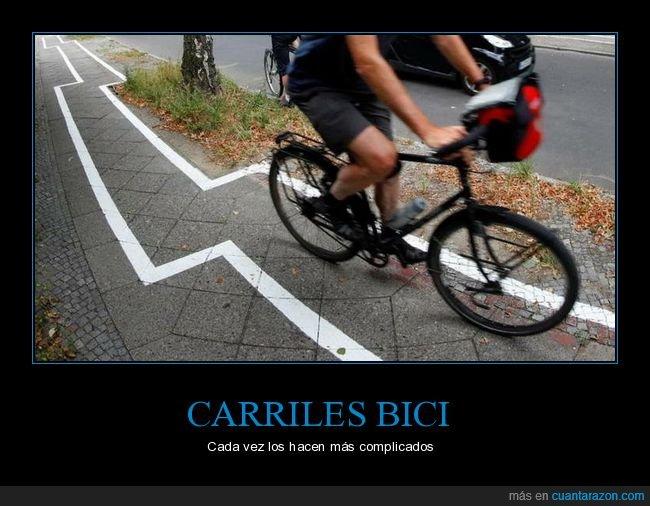 bicicleta,carril bici,wtf