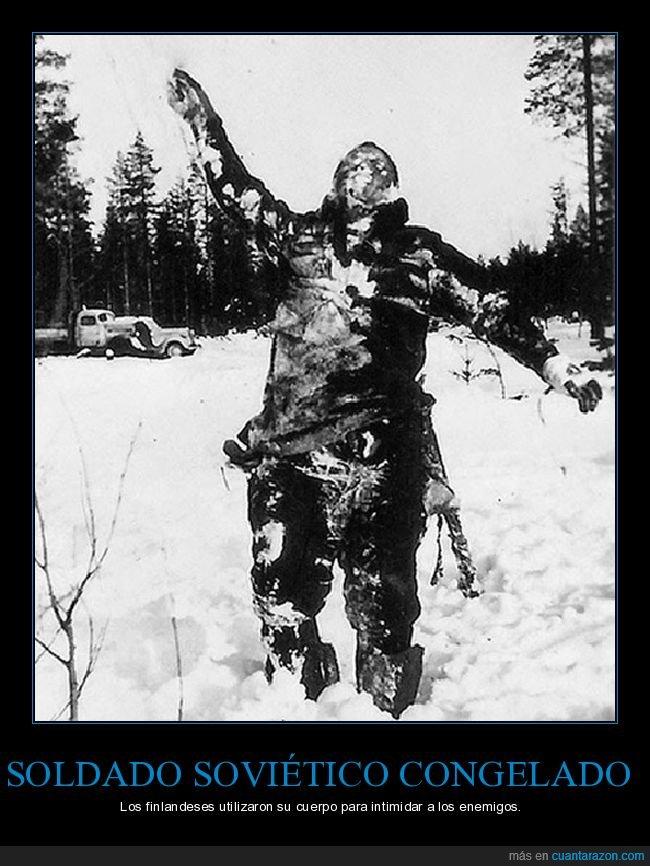 congelado,soldado,soviético