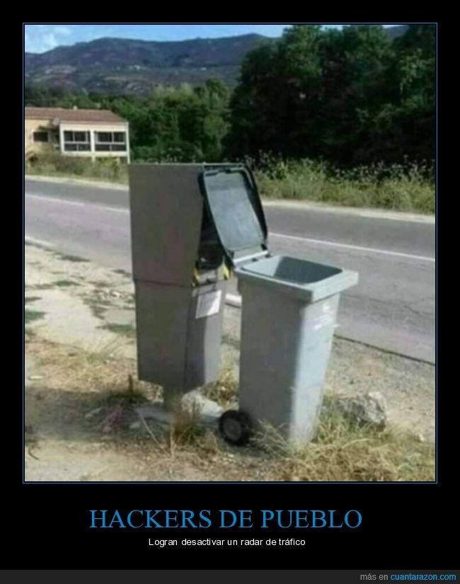 contenedor,desactivar,hacker,radar,wtf