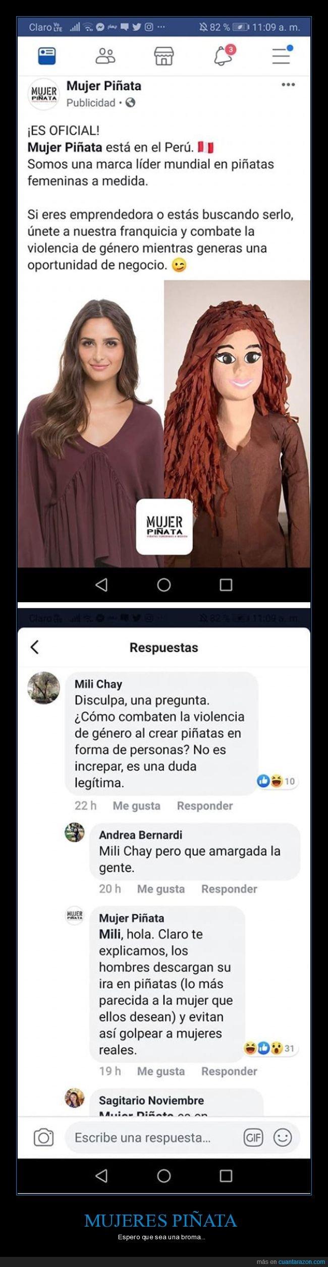 piñata,piñatas,violencia de género,wtf