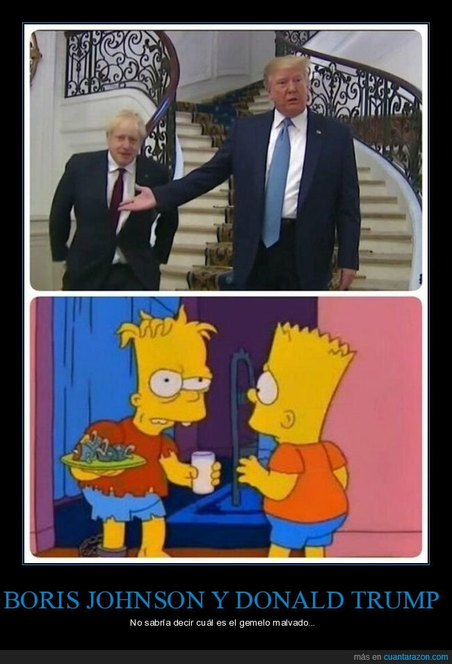 bart,boris johnson,donald trump,hugo,simpsons