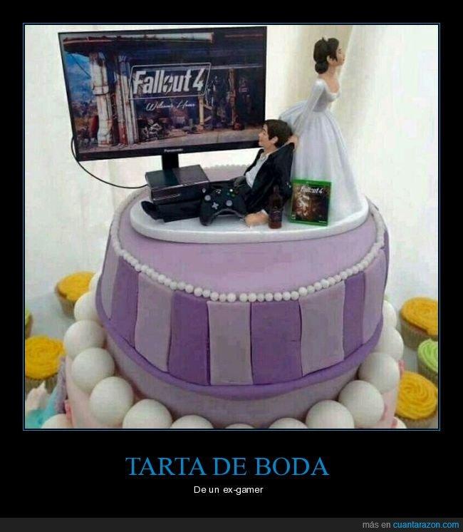 boda,fallout 4,gamer,tarta