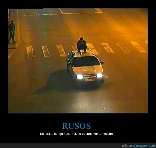 coche,rusos,slav squat,wtf