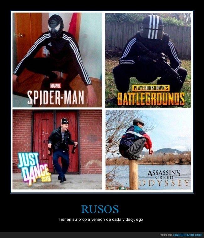 rusos,videojuegos