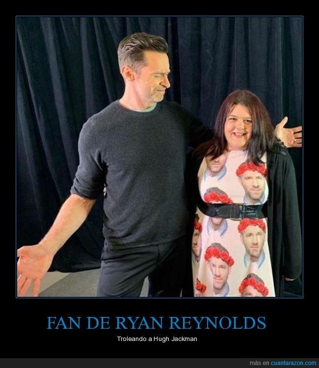 fan,foto,hugh jackman,ryan reynolds,vestido