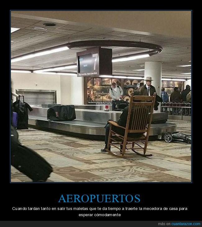 aeropuerto,maletas,mecedora
