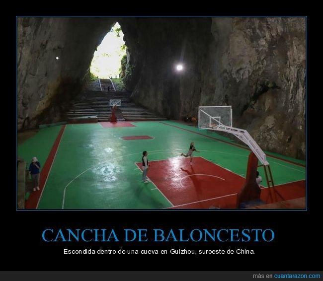 baloncesto,cancha,cueva