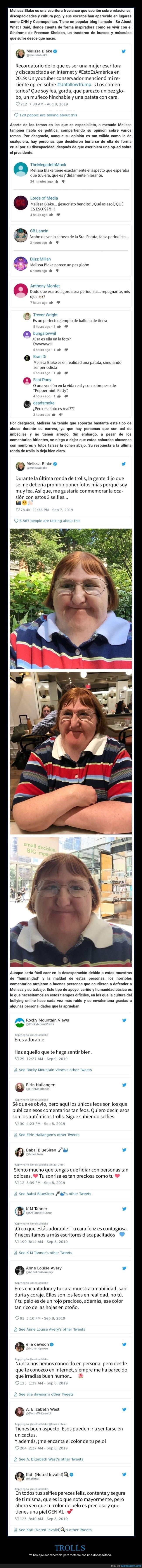 discapacitada,melissa blake,trolls