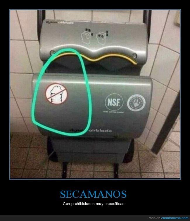 prohibición,secador de manos,wtf