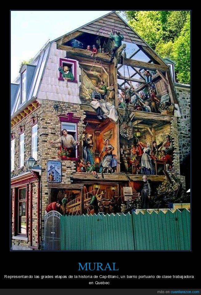 casa,mural,quebec