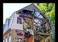 Enlace a Una casa con mucho arte