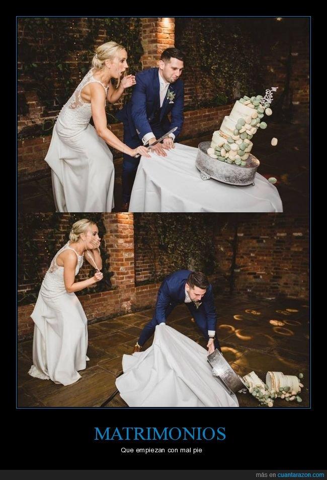 boda,fails,tarta