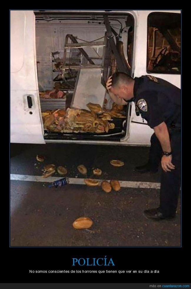 comida,fails,furgoneta,policía