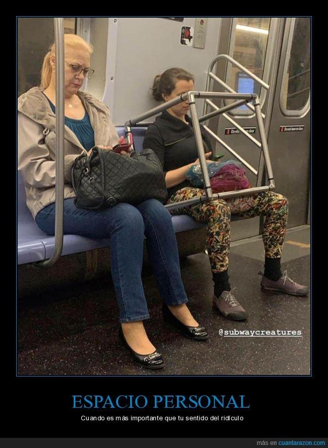 espacio personal,metro,wtf