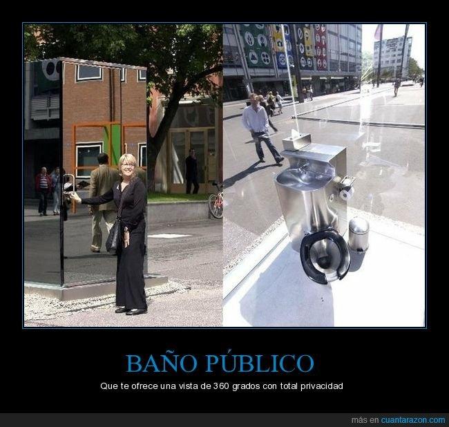 baño público,transparente