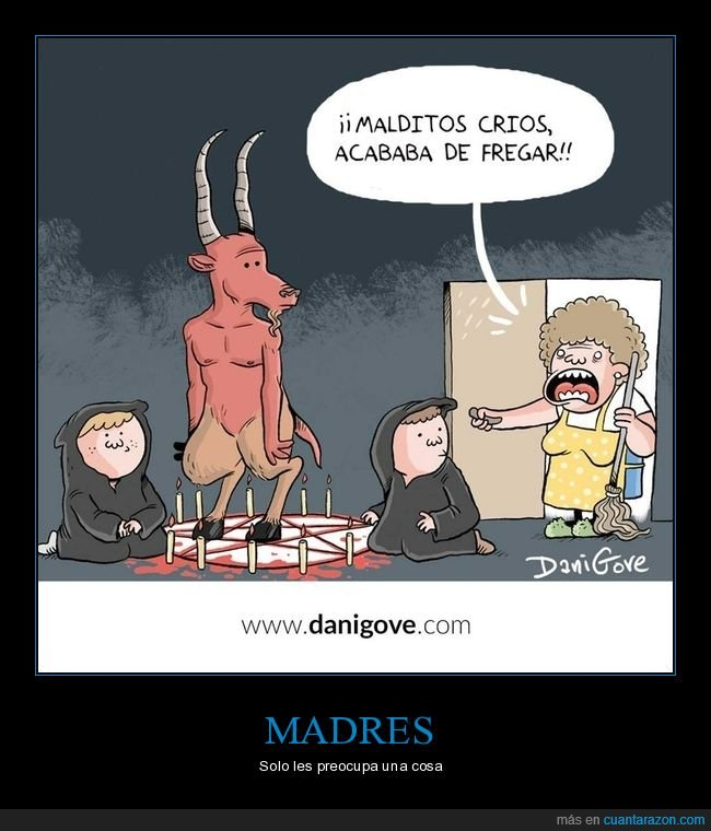 demonio,fregar,invocando,niños