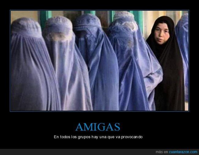 amigas,burka,provocando