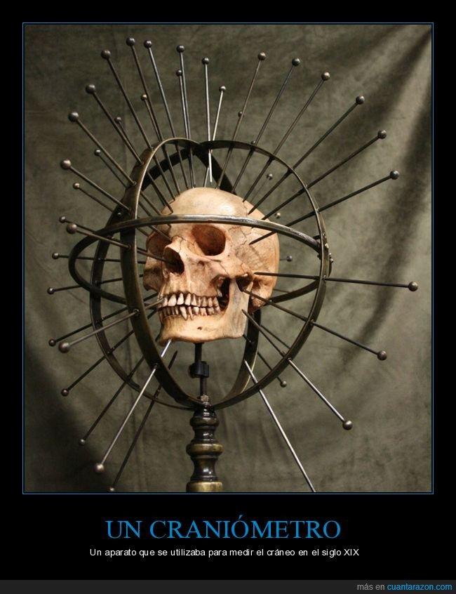 cráneo,craniómetro,medir,siglo xix