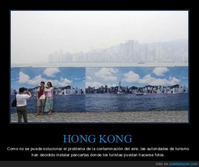 contaminación,fotos,hong kong,paisaje,pancartas,turistas