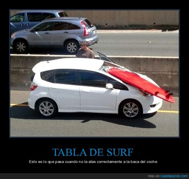 coche,fails,surf,tabla