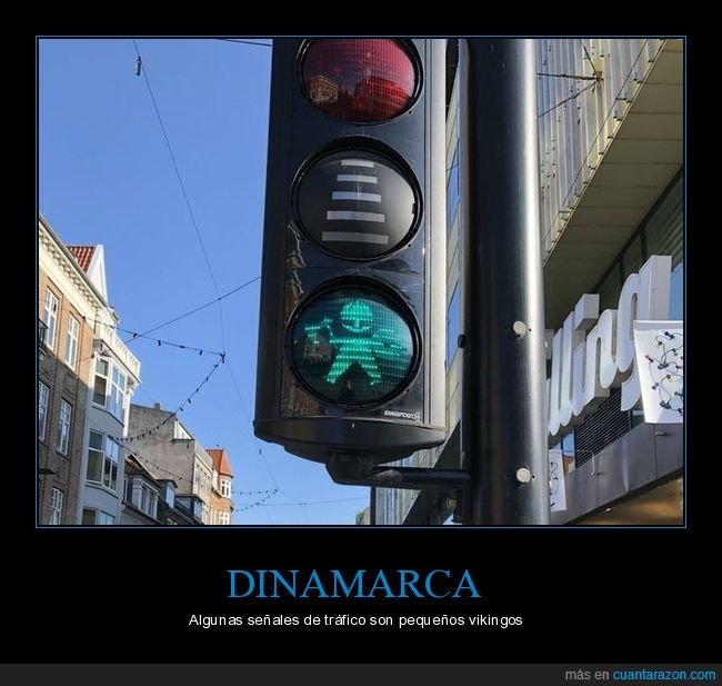 dinamarca,semáforo,vikingo