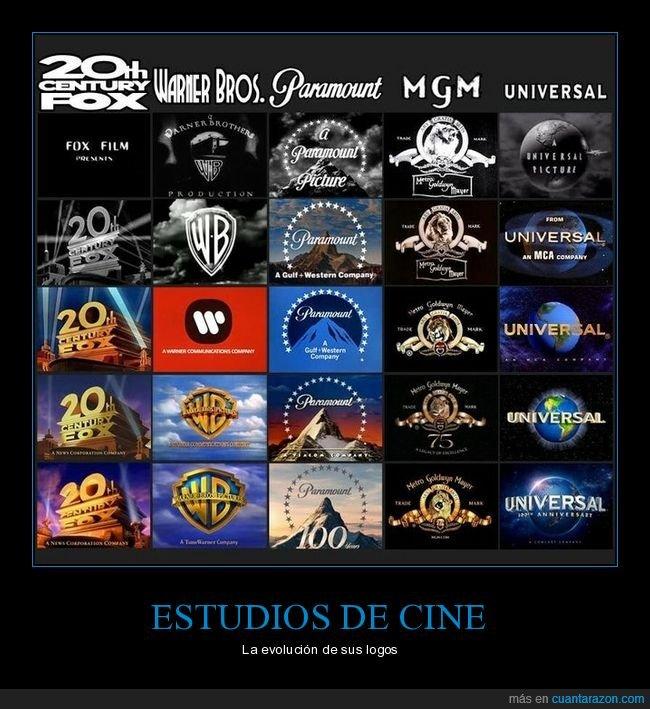estudios de cine,evolución,logos