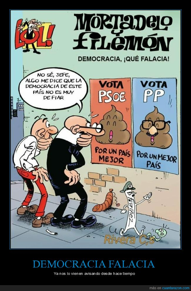 democracia,mortadelo y filemón,políticos